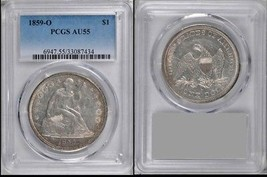 1859-O New Orleans Seated Dollar PCGS AU55 Almost Uncirculated - Stuart ... - $1,150.00