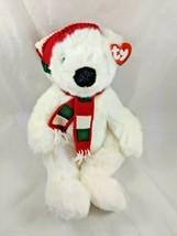 "Ty Holiday Bear Plush 14"" 5700 1997 Stuffed Animal Toy - $9.95"