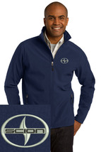 SCION logo navy blue Embroidered Port Authority Core Soft Shell Jacket J317 - $39.99+