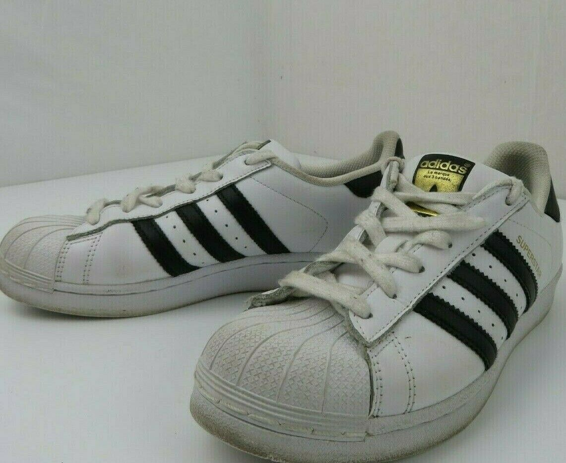 Primary image for Adidas Superstar Shell Toe Women's Size 6 White Black 77154