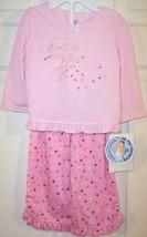 NWOT Carter's Girl's Pink Fairy Polka Dot Pajamas Pajama Set, 12 Mos. - $9.99