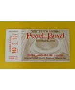 Peach Bowl Ticket Stub 1981 Miami Hurricanes Virginia Tech Football Game - $26.00