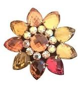 Joan Rivers RHINESTONE BROOCH FLOWER - $49.49