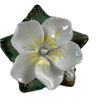 Vintage Signed ARTONE Goldtone England Bone China FLOWERS Pin Brooch Gar... - $18.66