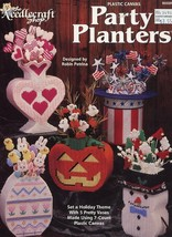 Holiday Party Planters Halloween Plastic Canvas PATTERN/INSTRUCTIONS/NEW... - $7.17