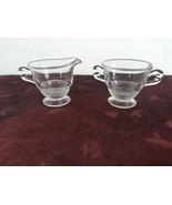Vintage Duncan Miller Teardrop Creamer Sugar Clear Depression Glass - $23.36