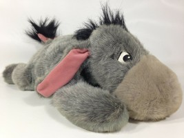 "Disney Eeyore Bean Bag Plush Pooh Friend Collectible Embroidered Eyes 15"" Grey - $23.74"