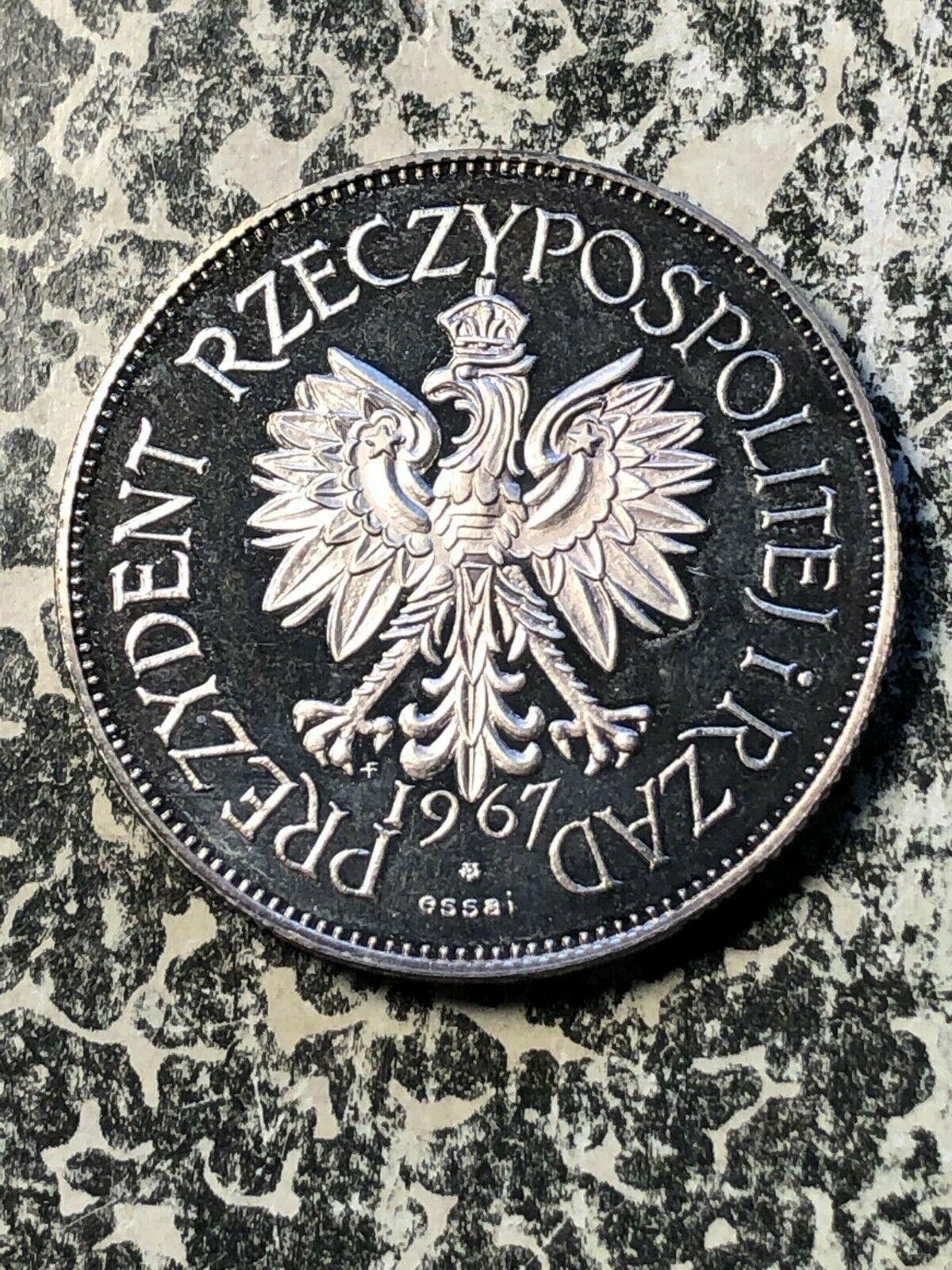1967 Polonia Kosciuszko/Pilsudsky Moneda Medalla Lote #Jm777 de Plata ! Prueba