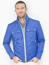 ANDREW MARC NEW YORK CHASE JACKET COAT BLUE CITY RAIN COLLECTION MM3AC272 - $92.17