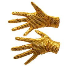 Sequin Gloves For Party Dance Performance Props Wrist Length Polyester M... - $134,21 MXN