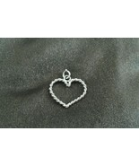 Sterling Silver Rope Heart Handmade Necklace Women's Pendant NEW - $29.95