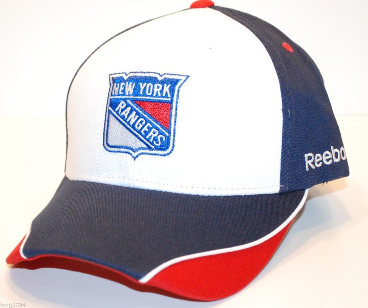 Primary image for New York Rangers Reebok NHL Piped Bill OSFM  Adjustable Hockey Cap Hat