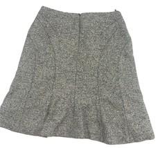AK ANNE KLEIN Skirt womens SZ 4 Tweed Wool Blend zipper Lined A-line Str... - $8.50