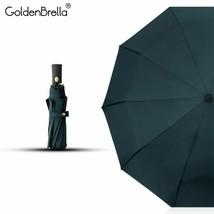 GoldenBrella® Classic Quality Umbrella For Men Strong Wind Resistance - $59.59
