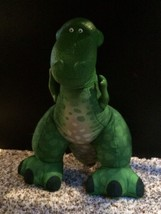 Fisher Price Green Dinosaur Plush Toy Story Plastic Head Arms Squeeze Make Roar image 2