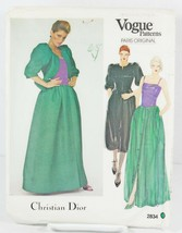 Vogue Paris 2834 Sewing Pattern Christian Dior Petite Jacket Dress Gown ... - $24.00