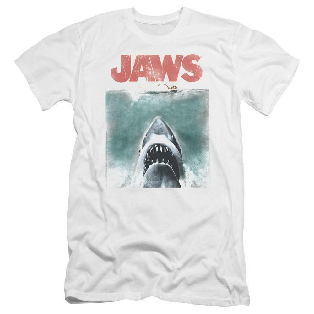 Jaws classic original movie poster retro 70s vintage graphic t-shirt UNI726