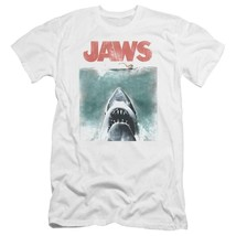 Jaws classic original movie poster retro 70s vintage graphic t-shirt UNI726 image 1