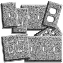 GRAY GRANITE LOOK LIGHT SWITCH OUTLET WALL PLATE ROOM ART KITCHEN BATHRO... - $8.09+