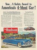 Hudson 1949 Ad Auto 4 Door Blue Sedan Francis Chase Art - $9.99