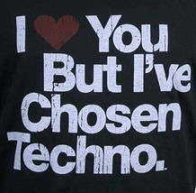 I Love You But I've Chosen Techno Mens Black Cotton Tank Top Shirt