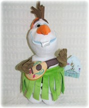 "New Olaf Disney Store Frozen OLAF Snowman Plush 13"" Hawaiian Hula Skirt NWT 2013 - $15.19"