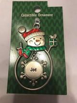 "Christmas Tree Ornament Snowman ""Joe"" Vintage Rare Ships N 24h - $11.86"