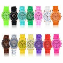 Unisex Geneva Silicone Jelly Gel Quartz Analog Sports Wrist Watch New FREE SHIP - $14.95