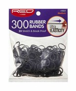 Red by Kiss 300 Rubber Bands 2X Stretch Break Proof Ultra Elastic - HRB0... - $4.90