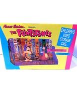 VINTAGE FLINTSTONES 1990 HANNA-BARBERA VIDEO STORAGE CASE W BOX FRED Dino - $29.01