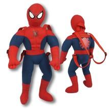"""Spider-Man Plush Backpack New Marvel Super Hero 17.5"""" High  - $19.79"""