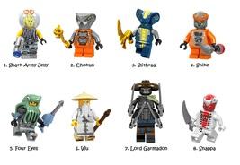 Ninjago Lego Minifigures Jelly Chokun Four Eyes Wu Garmadon Minifigure Kids Toy - $2.69