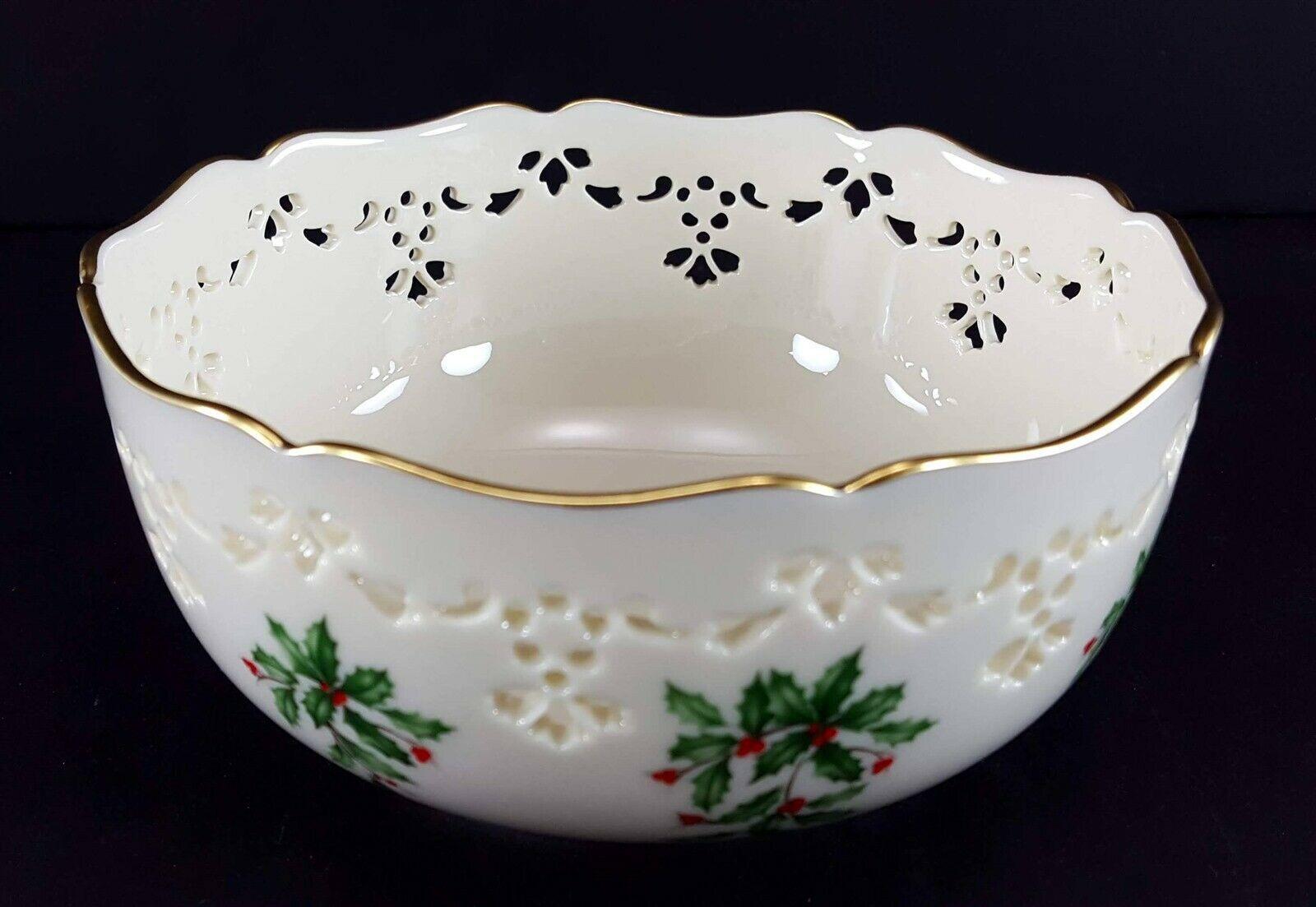 "LENOX China Holiday Dimension Pierced All Purpose Bowl 6"" Dinnerware image 3"
