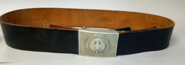 "Vintage West German Army Leather Belt & Buckle ""Einigkeit - RECHT- Freiheit"" - $45.00"