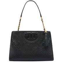 Tory Burch Fleming Open Shoulder Bag Black  - $369.00