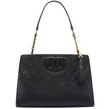 Tory Burch Fleming Open Shoulder Bag Black  - $369.00