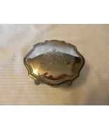 Vintage Dieu Et Mon Droit British Royal Crest Silverplate Trinket Jewelr... - $111.37