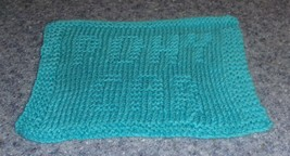Brand New Hand Knit Pony Car Aqua Blue Dish Cloth For Dog Rescue Charity - €5,92 EUR