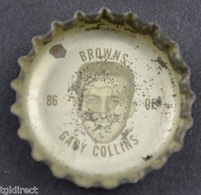 Vintage Coca Cola NFL Bottle Cap Cleveland Browns Gary Collins Coke King... - $4.99
