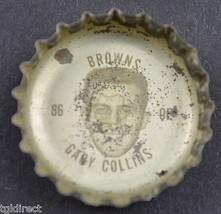 Vintage Coca Cola NFL Bottle Cap Cleveland Browns Gary Collins Coke King Size - $4.99
