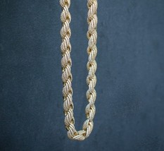 Fully Iced Out Diamond Gold Rope Chain Necklace - $229.99+