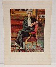 1952 Vintage Full Color Art Print chocquet Seated Paul Czanne Plate Four - $7.91