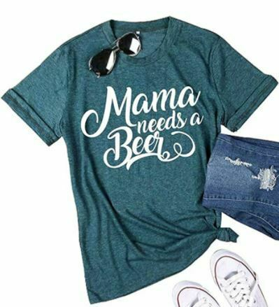 EGELEXY Mama Shirt Women Funny Letter Print Mom Gift Tops Tees Casual  NEW-!!!!