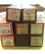 LOT of 8 VINTAGE QRS PIANO WORD ROLLS for Player Piano - $49.49