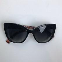 DOLCE & GABBANA Sunglasses DG4216 2789T3 Black On Printing Roses 55MM Polarized - $227.69