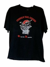 Chisholm Trail Cougars Mens Hanes Graphic T-Shirt Black 100% Cotton Bask... - $9.89