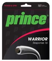 "NEW Prince ""Warrior Response"" 16g Tennis String BK/CL Set - $9.99"