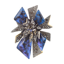 Alexis Bittar Two Tone Encrusted Perennial Punk Pin - $385.00