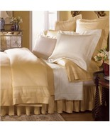 Sferra Luxury Capri Honey Queen Flat Sheet Gold 100% Egyptian Cotton 102... - $549.00