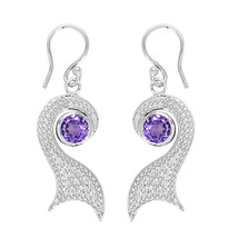 Attractive Design !! Amethyst 925 Sterling Silver Earring Shine Jewelry ... - $16.25